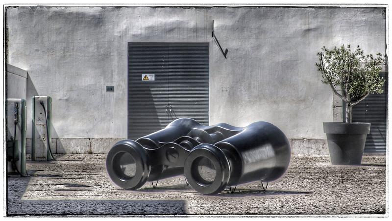 Artwork: Binoculars in the Citadela Art District, Cascais