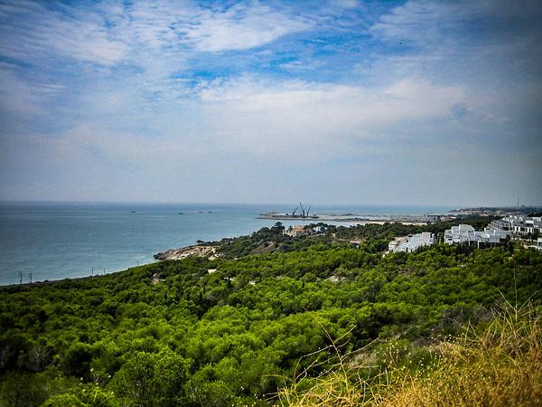 Coastline near Sitges