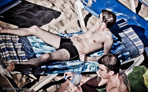 A day at the beach<br /> Sitges Beach, Spain
