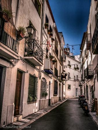 Back streets of Sitges