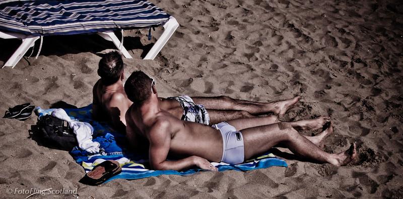 A Day at the Beach Sitges Beach, Spain