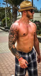 Shirtless in Maspalomas