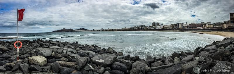 Las Palmas Beach Panorama