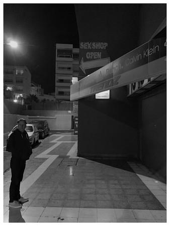 Man Alone on Empty Street