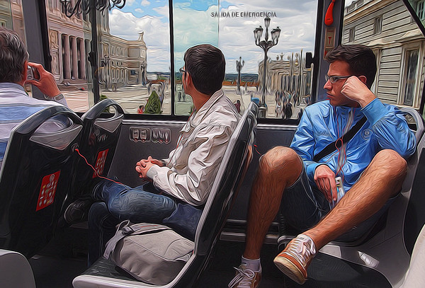 On the Madrid City Bus Tour