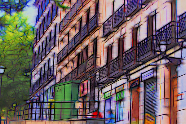 Madrid Street (Artistic Interpretation)
