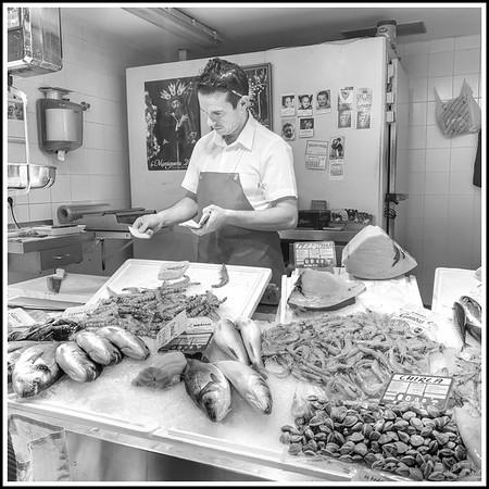 Fishmonger takes orders