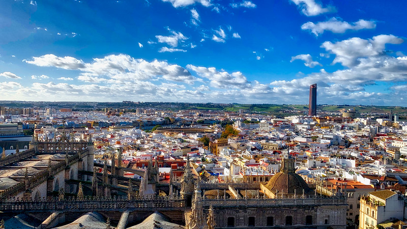 View from Seville Cathedral Bell Tower