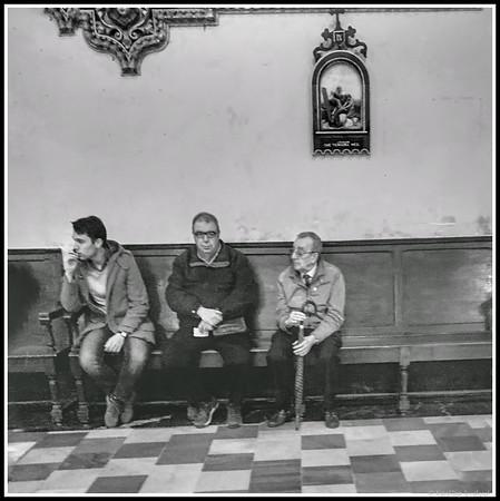 Three Men in a Church