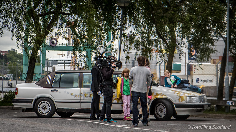 Filming in Stockholm