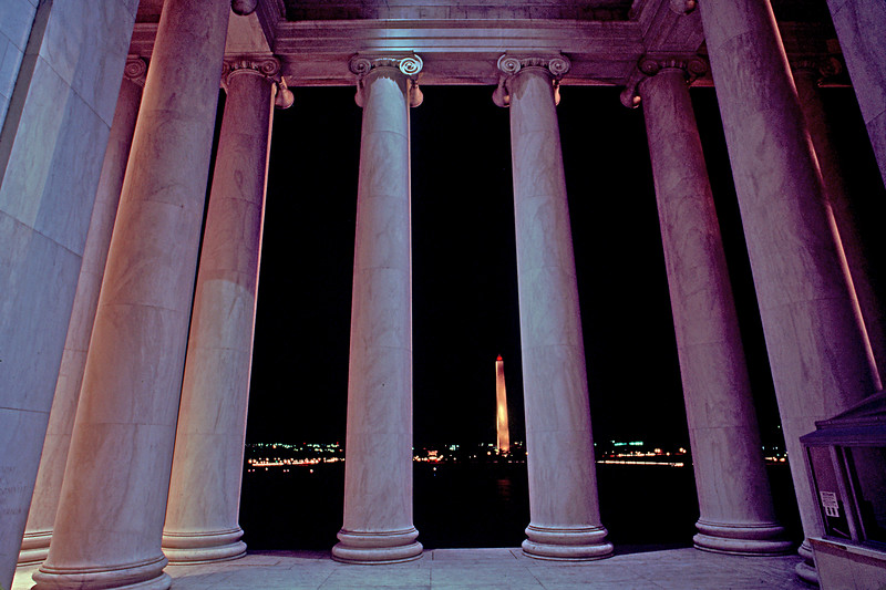Jefferson Memorial, Washington Monument