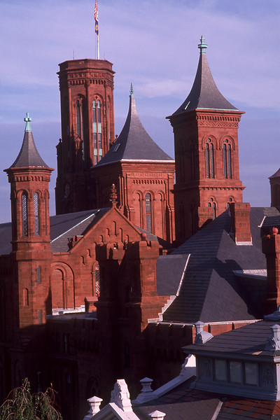 Smithsonian  Museum Castle Building, Washington DC  From the Roof