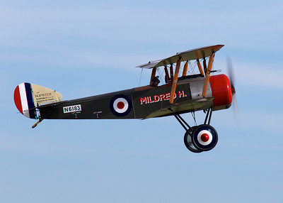 World War I reenactment, with planes