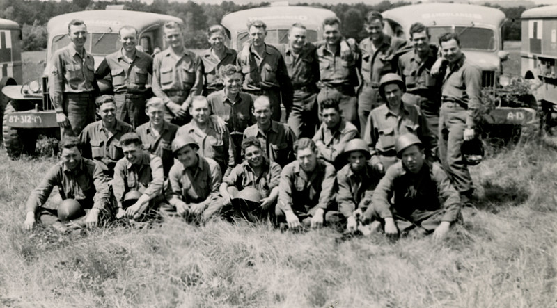 Some of the men of Company A at Camp Oklahoma City, France