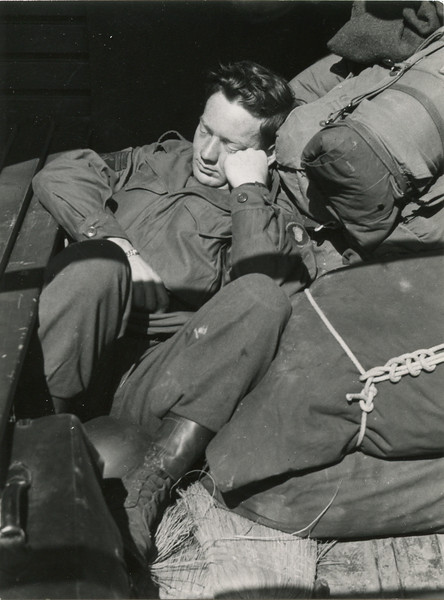 T/5 McMillan distributes the<br /> mail in his punctual manner.