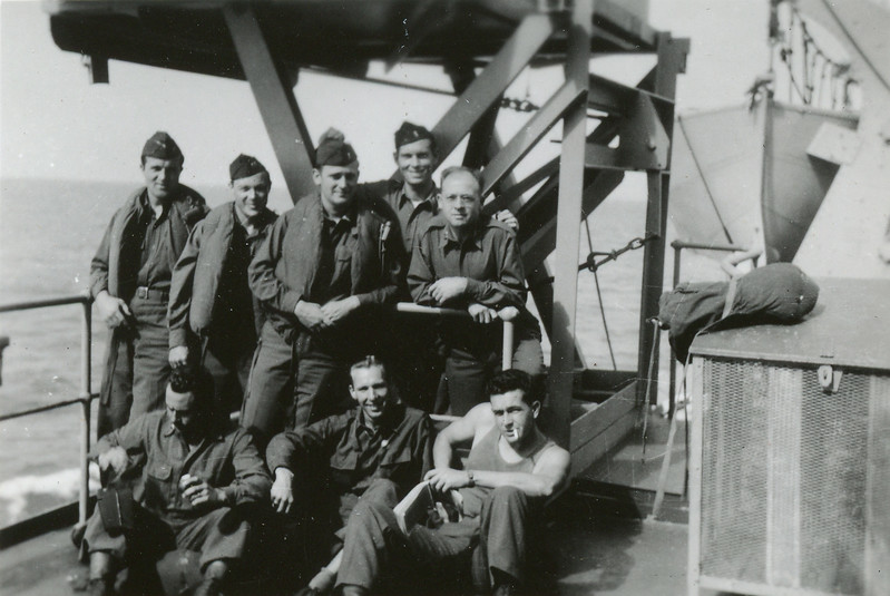 Lt. Sick - Company B's old reliable - surrounded by the other MAC officers of the Battalion aboard the Marine Fox.