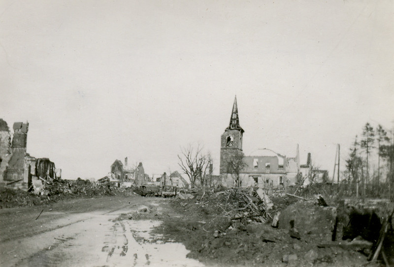 Some of the remains of St. Vith, Belgium