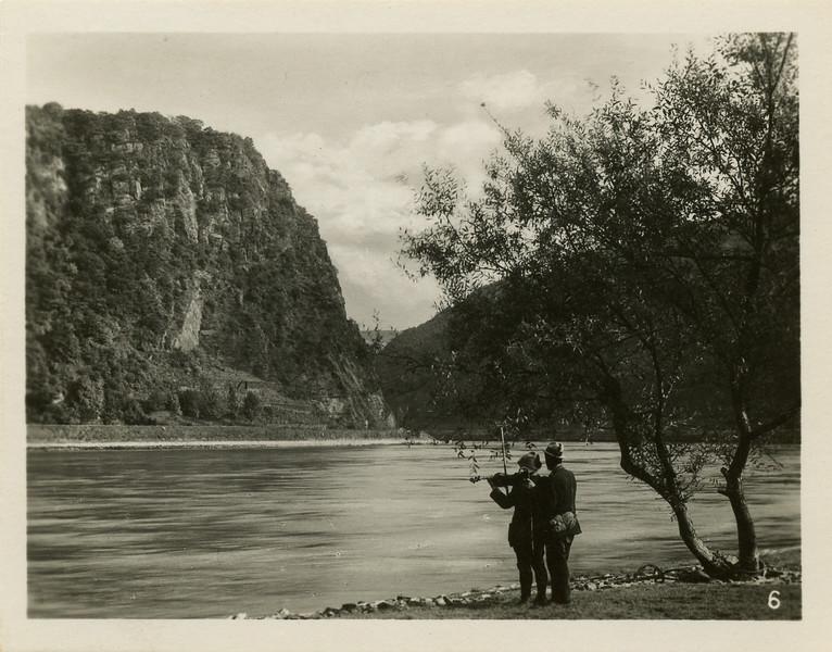 The Rhine river near Loreley