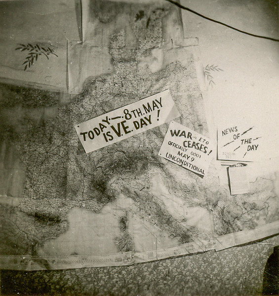 Save for my scrap book.  This is a picture of the Bn Progress Map on 8 May 45.