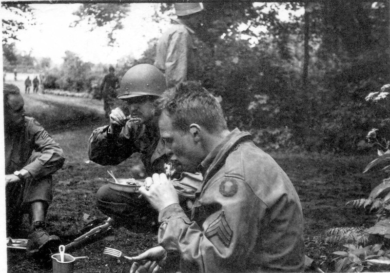 Sgt. Wm. A, Hickstein Jr. in the foreground.