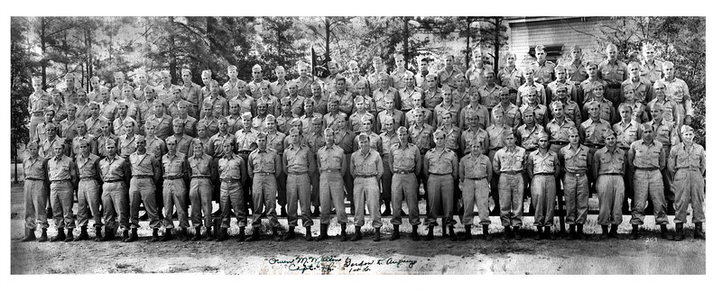 H Company, 345th Infantry Regiment<br /> August 1945<br /> Fort Benning, GA<br /> <br /> Provided by  Dennis Brown, son of Albert Brown