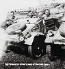 Vedder Driscoll in captured Nazi jeep - 11