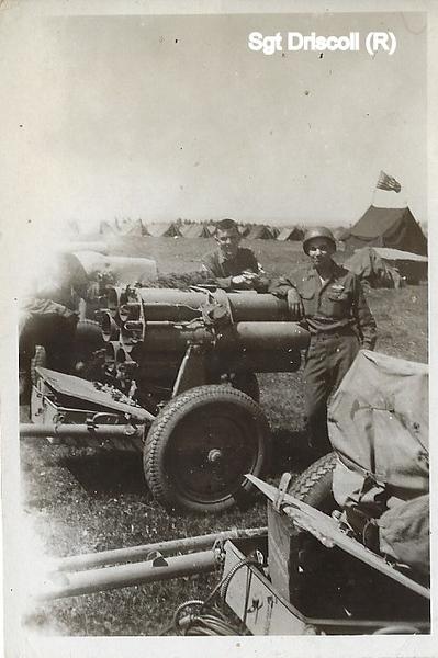 Vedder Driscoll on captured Nebelwerfer