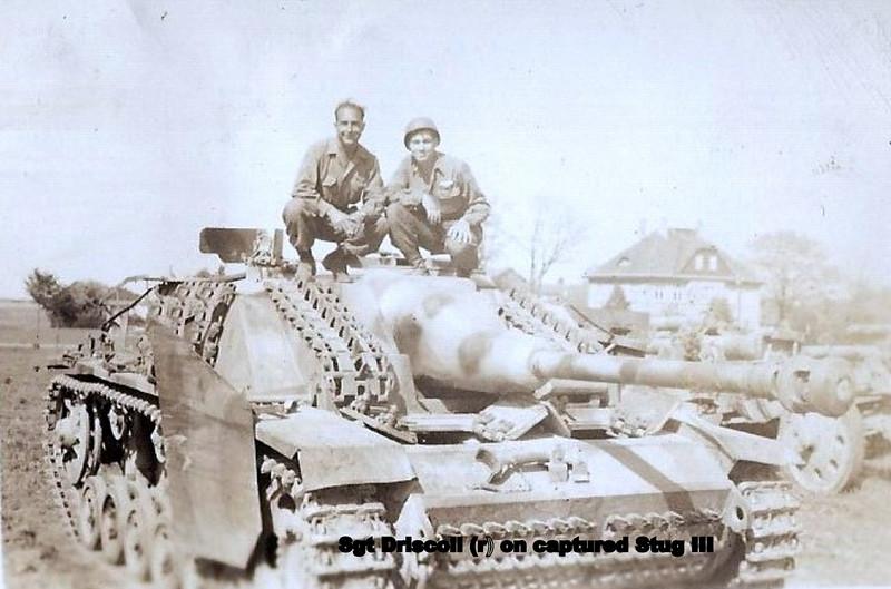 Vedder Driscoll on Captured Nazi Panzer tank - 16