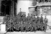 June 1945 at the Arc de Triomphe, Paris, France.<br /> <br /> A mixed group of GIs in front of the famous Arch de Triumph or Victory Arch. Joe Hewitt is in the center of the back row. Photo shows an interesting mix of rank and unit insignia. I think the guy in civvies on the left is the tour guide. Dad wrote my Mom a letter describing this trip which is quite funny. I'm not sure how he managed to get to Paris from Germany. By the end of the war he was attached to the 347th Regimental headquarters. I seem to remember him telling me the trip had something to do with running an errand for Col. Tupper.
