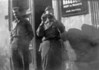 """28 May 1945, Oelsnitz, Germany<br />  <br /> Shown L to R:<br /> <br />     * S/Sgt Ferdinand W. """"Turk"""" Zoeller (Shown in AT Company in Ft. Benning Photo)<br />     * PFC Nicholas LeBlanc (Service Co. 347th)<br /> <br /> This is from a group of photos taken outside the 'Rosengarten' Inn in Oelsnitz, which was either used as a billet, headquaters building or both, after VE day."""