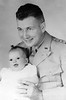 1944.  Captain William Dahlke with infant daughter, Janet.
