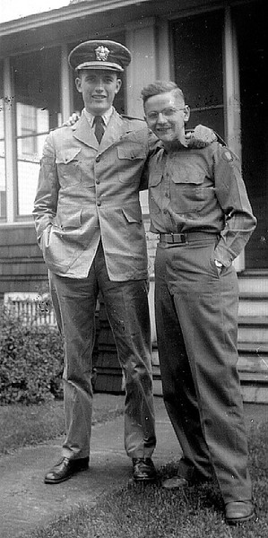 Frederick Wilder on right with friend.