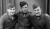England - 11 November 1944<br /> Left to right:  Sydney Kessler, Bill Levin, Joe Panza