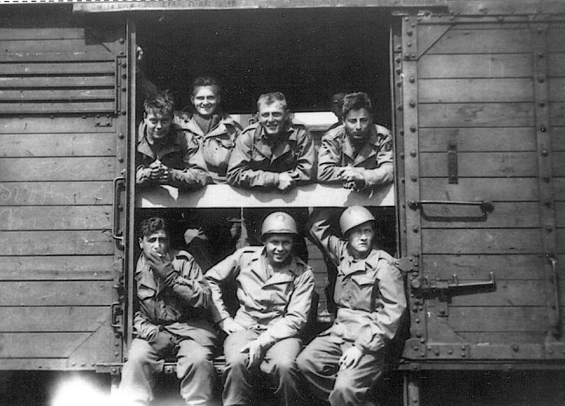 Western Germany - 1945<br /> 87th Division personnel en route home.