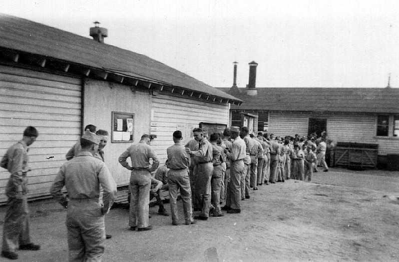 Fort Jackson, South Carolina<br /> F Company waiting in line for chow