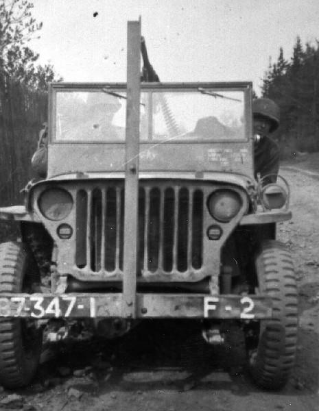 F Company's jeep.
