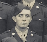 PFC Melvin O. Amelung<br /> <br /> cropped from large Unit picture of the 549th AAA AW Bn - Btry C - 1943<br /> (4th row from bottom - 21st from left)<br /> <br /> <br /> 549th AAA AW BN BTRY C<br /> 87th Infantry Division.<br /> Involved in the Battle Of The Bulge - WWII.