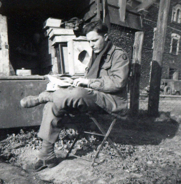 Me.  April '45<br /> [William Saul]