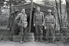 Lt. Joe Maccuci, Bob Behle, Bob Surabian, Plauen May 7, 1945<br /> [Joseph Massucci, Robert Behle, Robert Surabian]