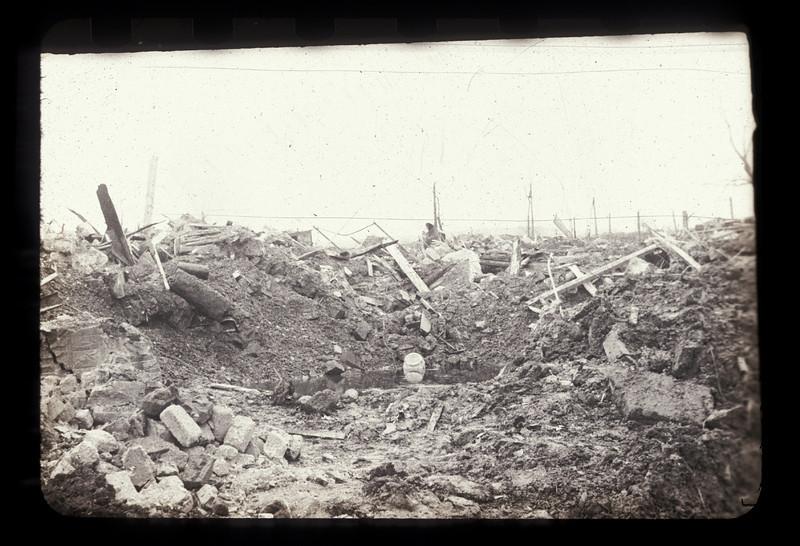 Bomb Crater in Plauen - 1945