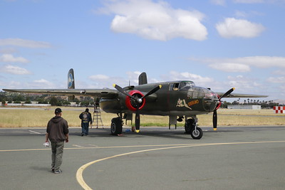 """This B-25 Mitchell """"Tondelayo"""" is also in town as part of the Wings of Freedom tour. (Hunter Cresswell - The Times-Standard)"""