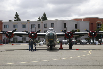 """The front view of the B-24 Liberator """"Witchcraft."""" (Hunter Cresswell - The Times-Standard)"""