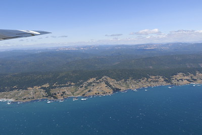 The ruggedly beautiful north coast of California as seen from the B-24 bomber. (Hunter Cresswell - The Times-Standard)