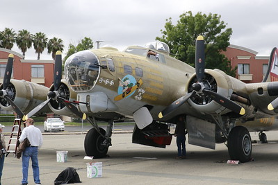 """Markings on the B-17 Flying Fortress """"Nine-O-Nine"""" match the original """"Nine-O-Nine"""" which completed 140 bombing missions to Berlin during WWII. (Hunter Cresswell - The Times-Standard)"""
