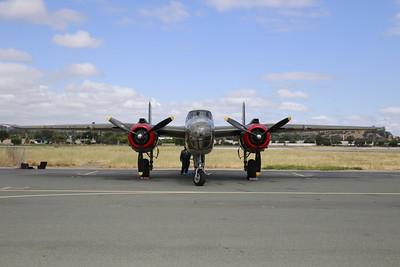 "The World War II era B-25 Mitchell ""Tondelayo."" (Hunter Cresswell - The Times-Standard)"