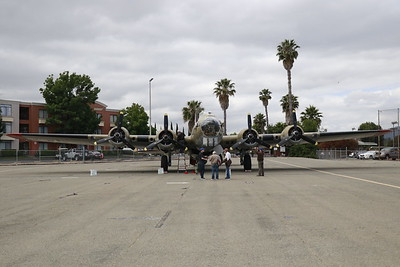 """This B-17 Flying Fortress """"Nine-O-Nine"""" is at the Humboldt County airport as part of the Collings Foundation Wings of Freedom tour through Wednesday. (Hunter Cresswell - The Times-Standard)"""
