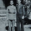 COURTESY PHOTO/BETTY CLEARY<br /> Brothers Richard, right, and Joseph Cleary in front of the family home. Both joined the service during World War II. Richard was in the Marines, and part of the force occupying Japan. Joe was a Navy recruiter in New England.