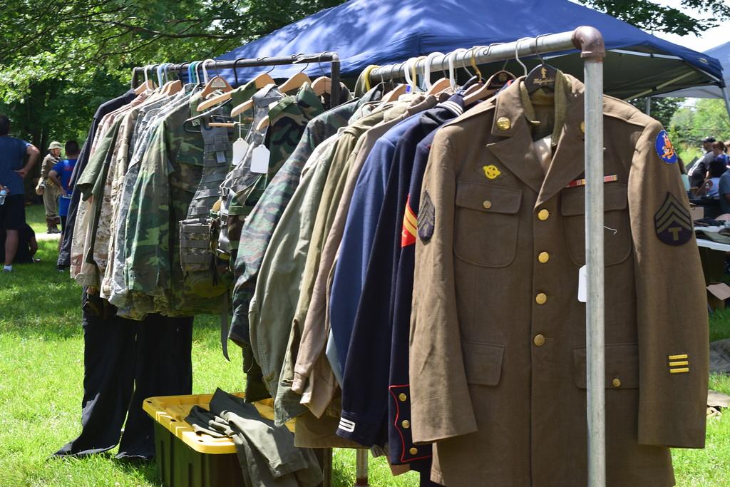 World War II reenactment in Chesterfield Township