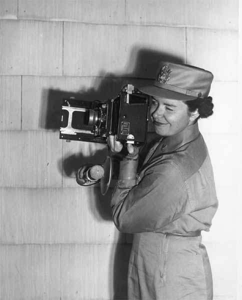 During the period of September 1, 1942 to November 15, 1942, Captain McGraw, then an auxiliary (enrolled woman), the only assigned  Women's Army Auxiliary Corps (WAAC) photographer, set up the entire photographic facilities of the First WAAC Training Center at Fort Des Moines, Iowa. She was awarded the Legion of Merit for her outstanding work.