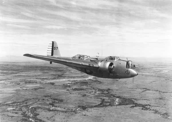 Martin B-10B Bombardment airplane.
